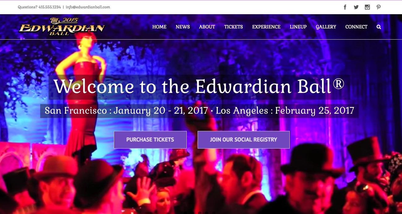 National Revue - Edwardian Ball website