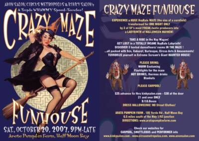 Crazy Maze Flyer designed and built by National Revue