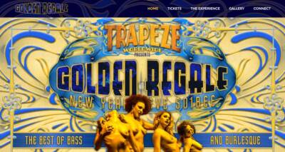 Golden Regale website designed and built by National Revue