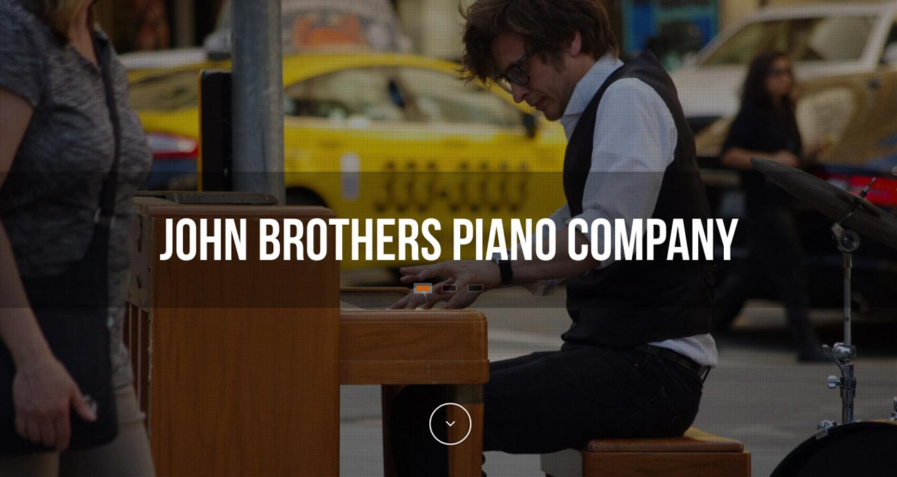 John Brothers Piano Co. website designed and built by National Revue
