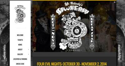 SpookeasySF website designed and built by National Revue