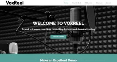 VoxReel website designed and built by National Revue