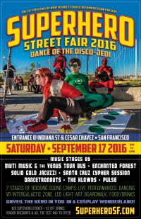 SuperHero Street Fair poster designed and built by National Revue