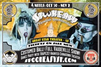 Spookeasy SF flyer designed and built by National Revue