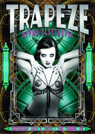 Trapeze Worldwide flyer designed and built by National Revue