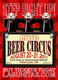 Lagunitas Brewing Company's Beer Circus poster designed and built by National Revue