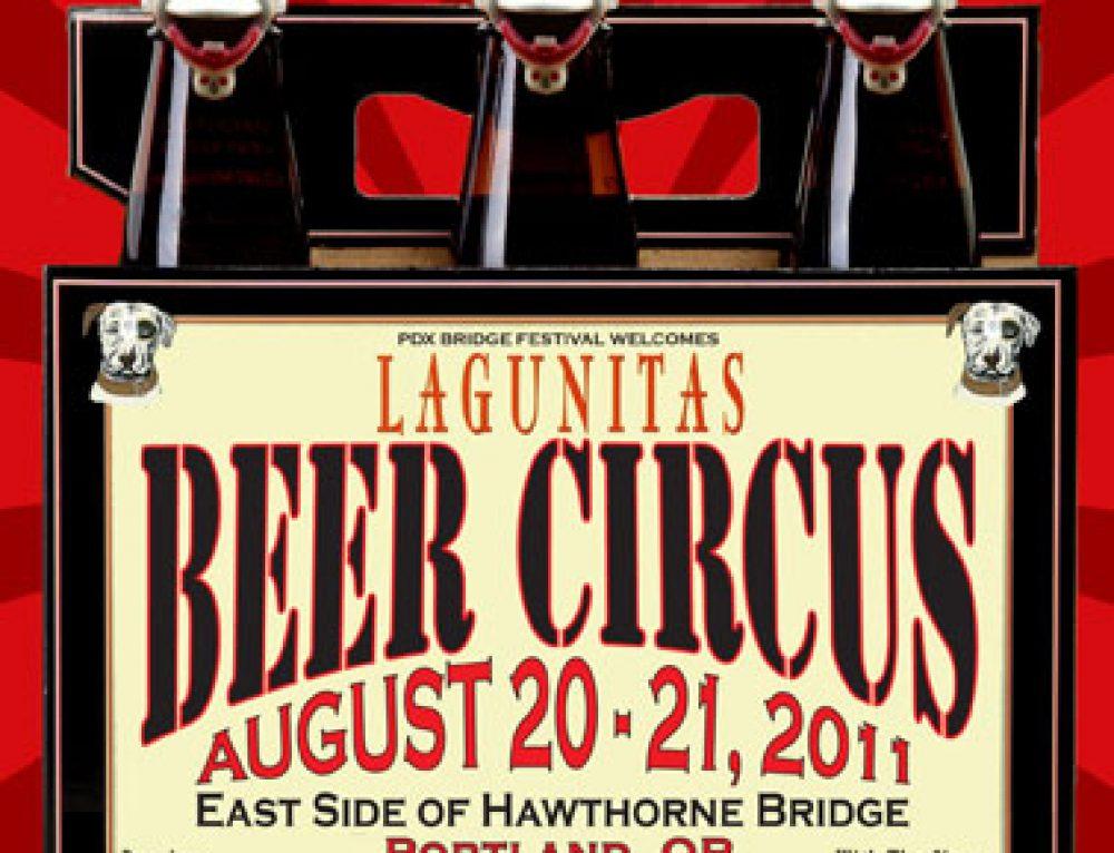 Lagunitas Brewing Company's Beer Circus poster
