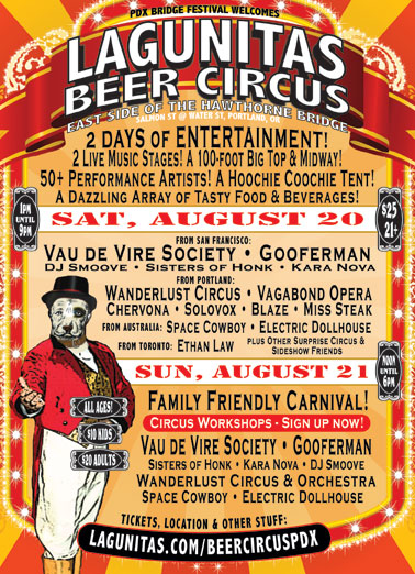 Lagunitas Brewing Co. Beer Circus poster designed and built by National Revue