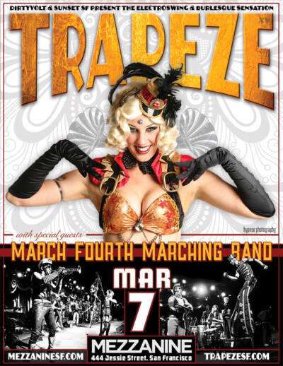 Trapeze Worldwide poster designed and built by National Revue