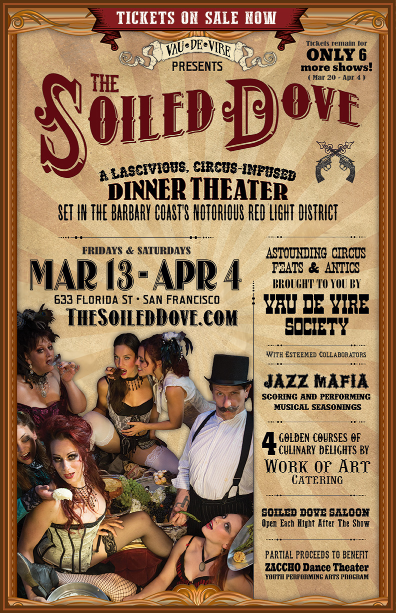Vau de Vire Society's Soiled Dove poster designed and built by National Revue