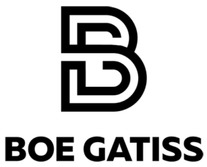 Boe Gatiss logo by National Revue