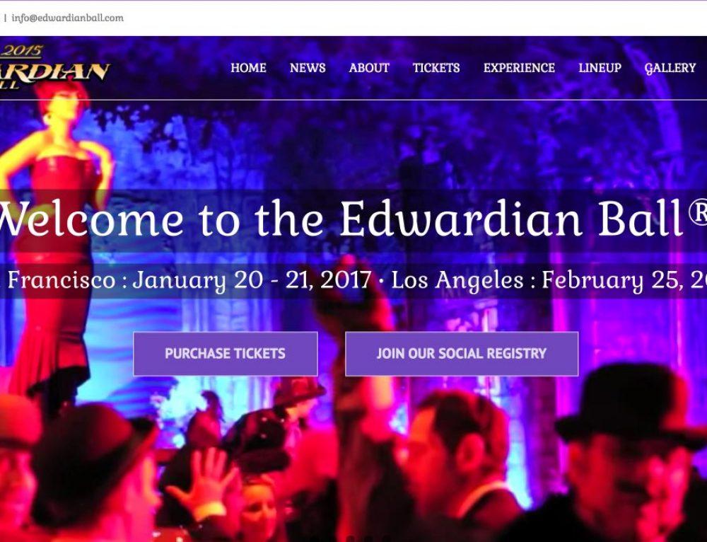 The Edwardian Ball website