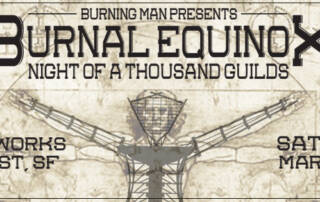 Burning Man Burnal Equinox Facebook cover - Designed by The National Revue