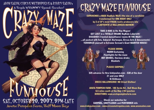 Crazy Maze flyer - Designed by The National Revue