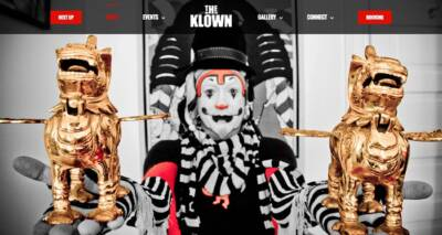 The Klown's website designed and developed by The National Revue