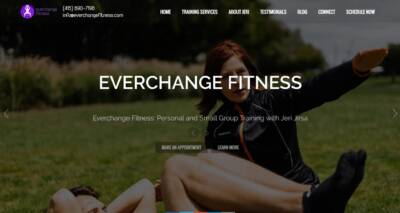 Everchange Fitness website designed and built by National Revue