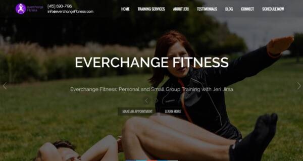Everchange Fitness website - Designed & built by The National Revue