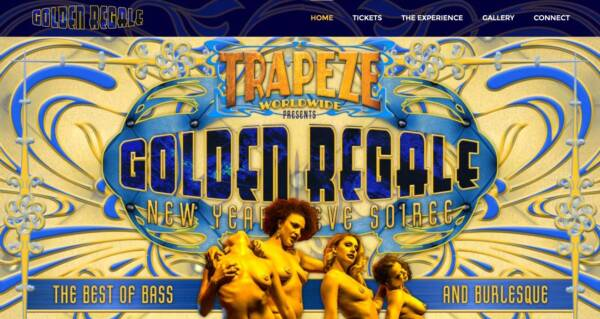 Golden Regale NYE website - Designed & built by The National Revue