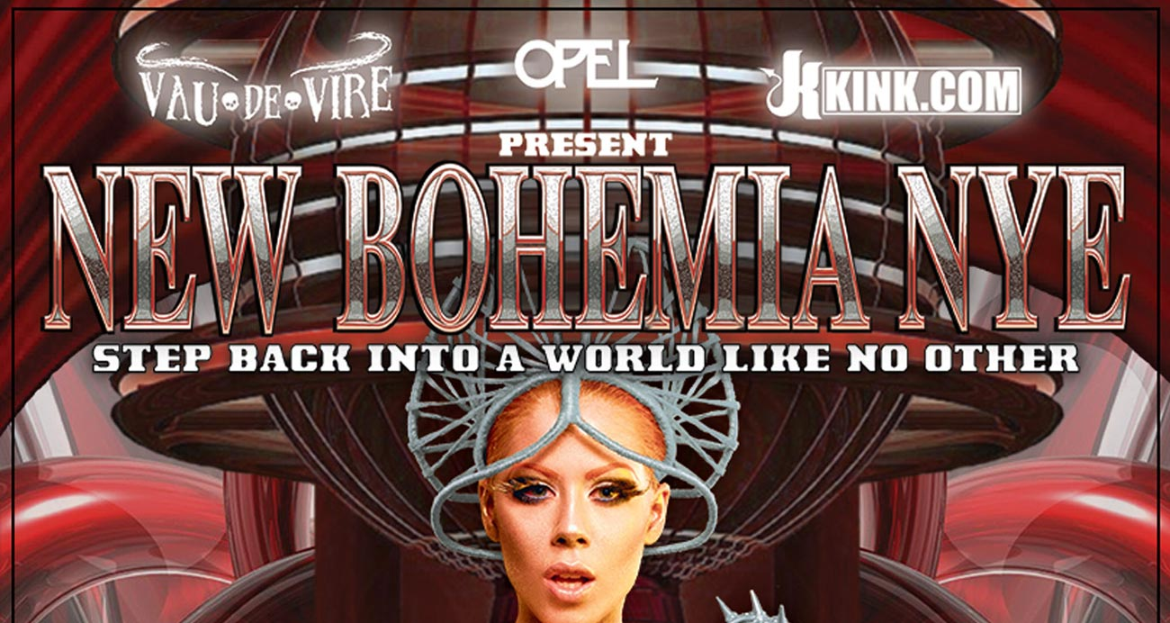 New Bohemia NYE website - Designed & built by The National Revue