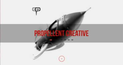Propellent Creative website designed and built by National Revue