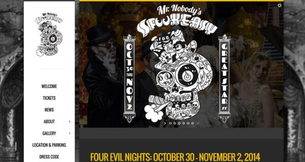 SpookeasySF website - Designed & built by The National Revue