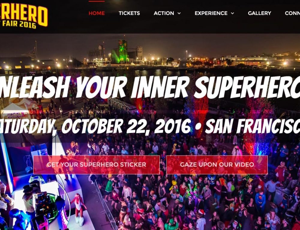 SuperHero Street Fair website