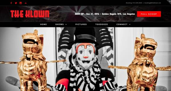The Klown website - Designed & built by The National Revue