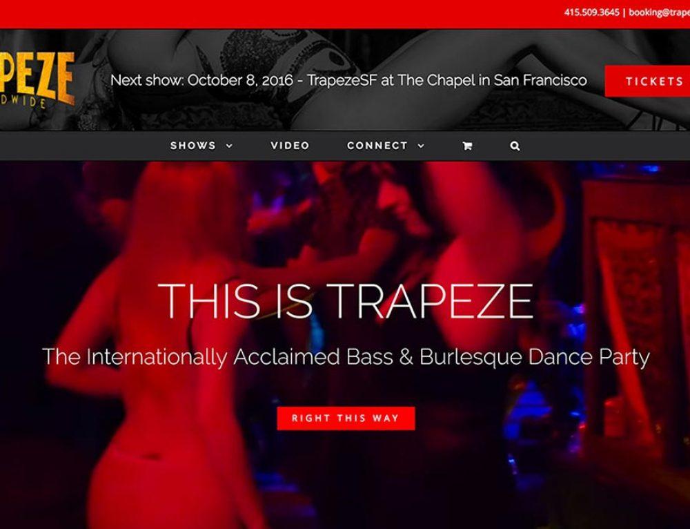 Trapeze Worldwide website