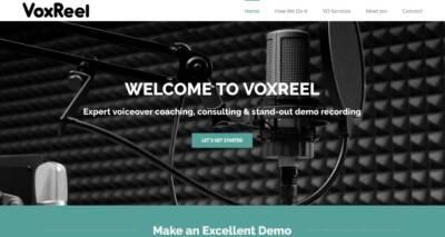 VoxReel website designed and built by National Revue