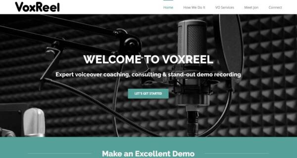 VoxReel website - Designed & built by The National Revue