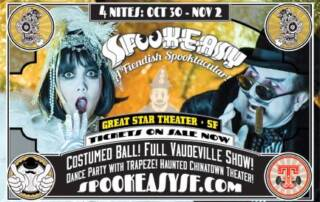 Spookeasy SF flyer - Designed by The National Revue