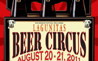 Lagunitas Brewing Company's Beer Circus poster - Designed by The National Revue