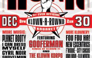 Klown Korps Honk Flyer poster - Designed by The National Revue