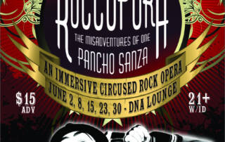 Roccopura rock opera poster - Designed by The National Revue