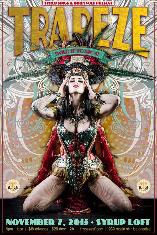 Trapeze Worldwide flyer - Designed by The National Revue