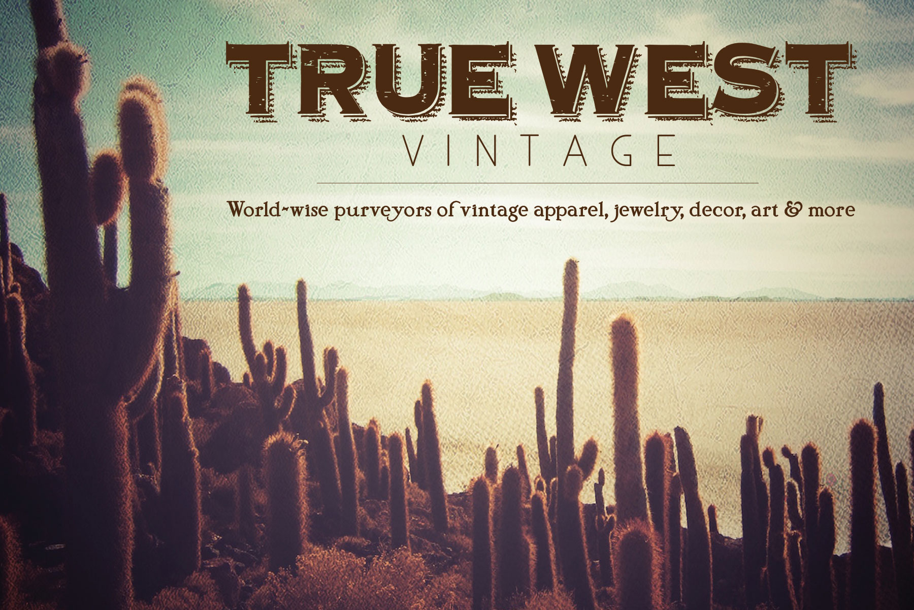 True West Vintage flyer - Designed by The National Revue
