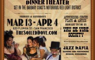 Vau de Vire Society's Soiled Dove poster - Designed by The National Revue