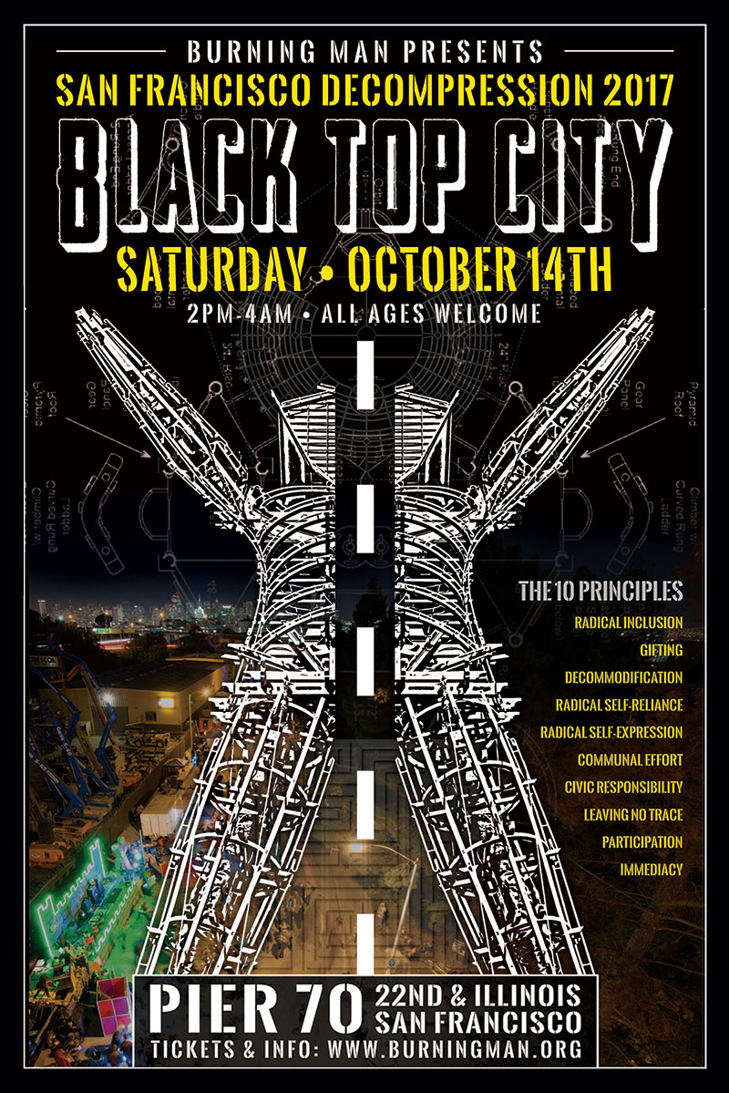 Burning Man Decompression Poster by The National Revue