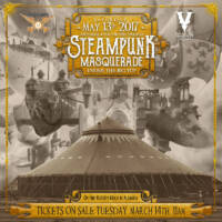 Steampunk Masquerade 2017 Flyer by The National Revue