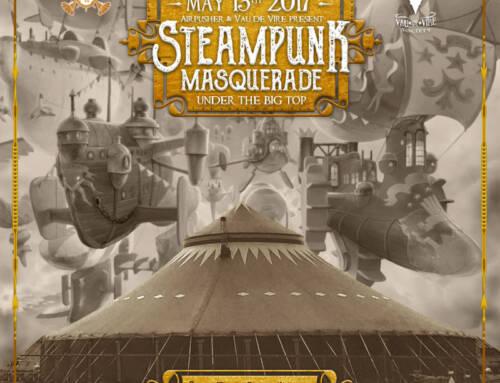 Steampunk Masquerade flyer