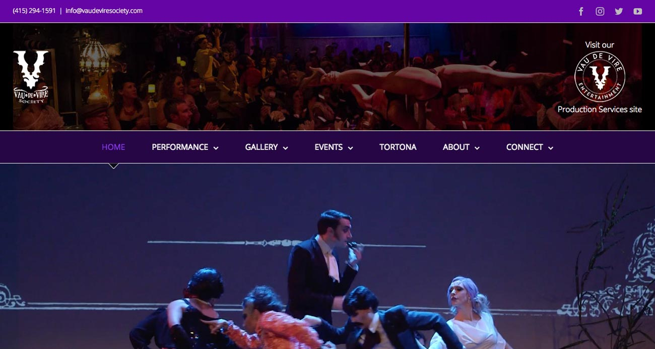 Vau de Vire Society website designed and developed by The National Revue