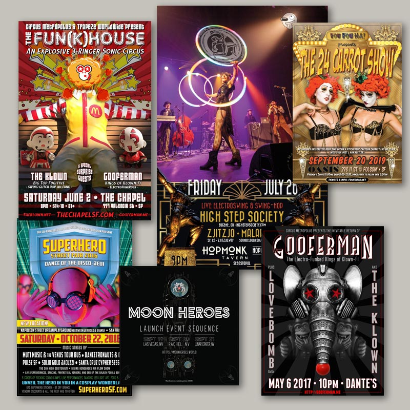 The National Revue - Custom posters and flyers for bands, musicians, DJs, events, and artists