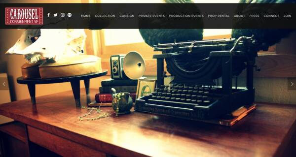 Carousel Consignment SF website - Designed & built by The National Revue