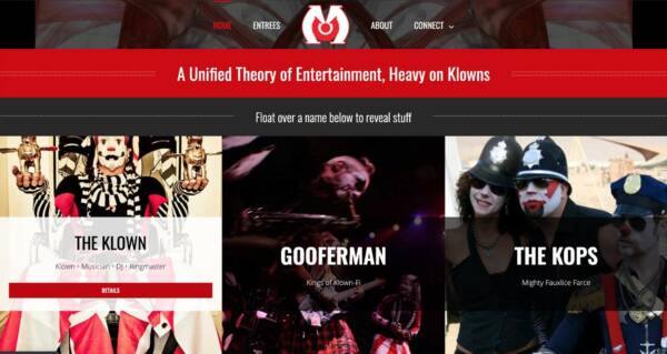 Circus Metropolus website - Designed & built by The National Revue