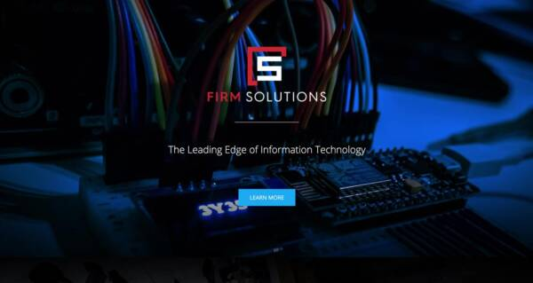 Firm Solutions website - Designed & built by The National Revue