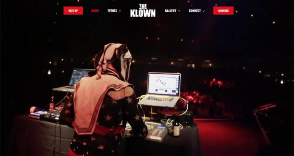 The Klown's website - Designed & built by The National Revue