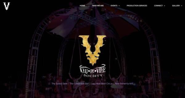 The Vau de Vire Society website - Designed & built by The National Revue