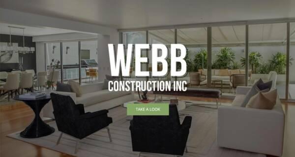 Webb Construction website - Designed & built by The National Revue